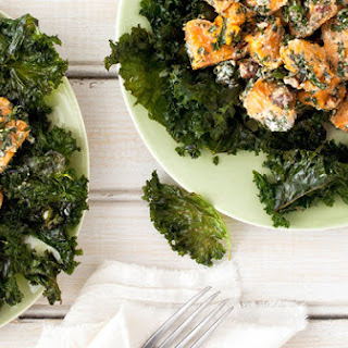 Roasted Sweet Potato and Crispy Kale Salad With Roquefort Dressing