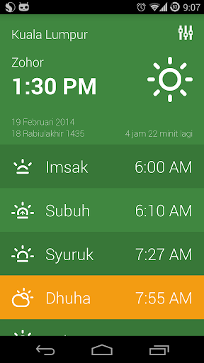 waktu-solat for android screenshot
