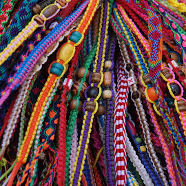 Woven Rainbow by Susan Fries - Artistic Objects Clothing & Accessories ( bracelet, closeup images, colorful, accessories, rainbow, closeup,  )