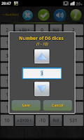 Screenshot of Numbers & Dice Random generate