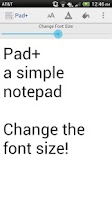 Screenshot of Pad+ a simple notepad