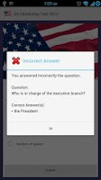 Screenshot of US Citizenship Test 2013 Free
