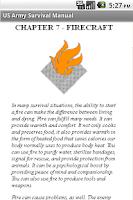 Screenshot of US Army Survival Manual