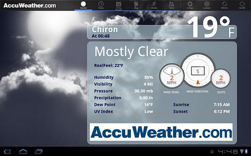 AccuWeather for Sony Tablet S