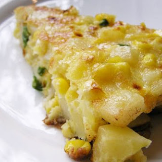 Frittata with Corn, Scallion, and Potato