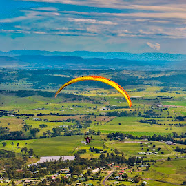 The Air Up There by Simon Tidd - Sports & Fitness Other Sports ( flying, paragliding, mt. tamborine, gold coast, gliding )