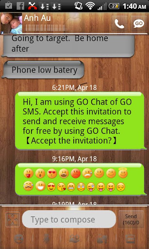 Go SMS theme wood