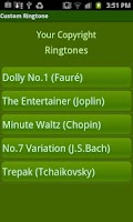 Screenshot of Custom Ringtone