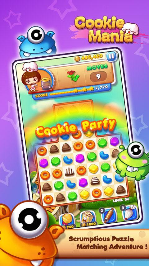 Cookie Mania - Halloween Sweet Game Screenshot 0