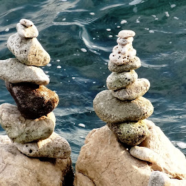 towers of stones by Dubravka Penzić - Artistic Objects Other Objects (  )