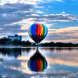Rainbow Balloon by James Martinez - Transportation Other (  )