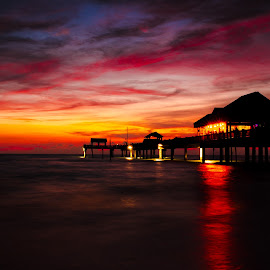 The Blood Sky by Desai Photography - Landscapes Sunsets & Sunrises ( clearwater beach, sunset, clearwater, beach sunset )