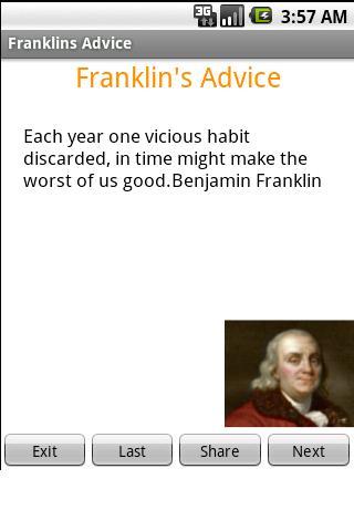 【免費娛樂App】Franklin's Advice-APP點子