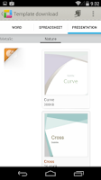 Screenshot of ThinkFree Office for OneDrive