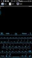 Screenshot of Theme for A.I.type Neon Blue