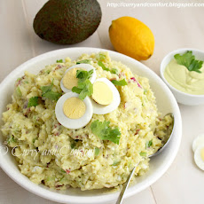 Smashed Potato Salad with Avocado Dressing