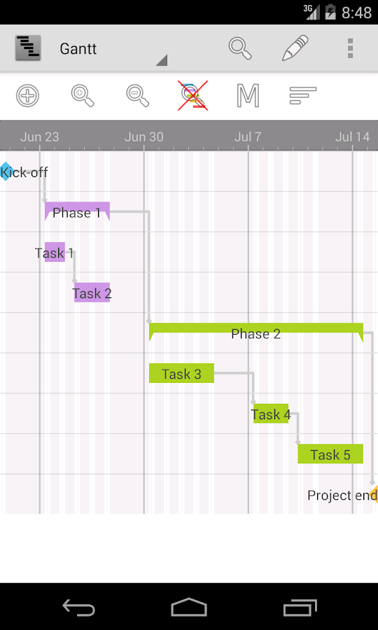 Project Schedule Screenshot 1