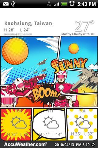 9s-Weather Theme+ 漫畫風