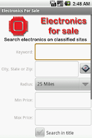 Screenshot of Electronics For Sale
