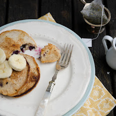 Whole Wheat Blueberry Buttermilk Pancakes (Made with Homemade Nut Buttermilk)