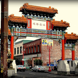 The Chinatown District of Portland, Oregon by Liz Hahn - City,  Street & Park  Neighborhoods