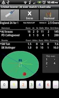 Screenshot of Android Cricket Scorer