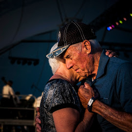 Love by Nathan D - People Couples ( love, hug, veteran, holding, hugging, mature, adult, swing, big band, compassion, dance )