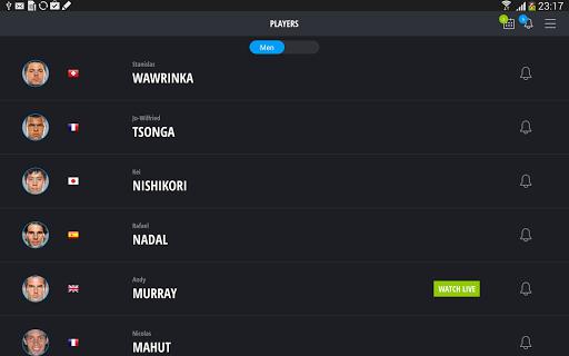TennisTV-Live Streaming Tennis - screenshot