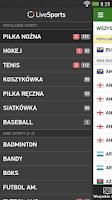 Screenshot of LiveSports.pl - wyniki na żywo