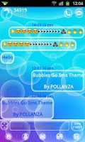 Screenshot of GO SMS Bubbles Theme