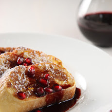 French Toast with Pomegranate Syrup