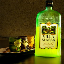 Some green by Sly S - Food & Drink Alcohol & Drinks ( limoncello, villa massa, green, drink, night shot )