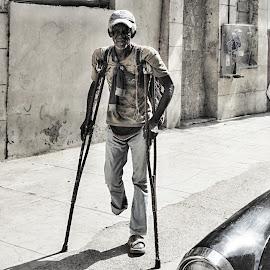 It´s My Lifed. by Marcel Cintalan - People Portraits of Men ( old man, street scene, havana, cuba,  )