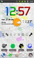 Screenshot of GO Launcher EX Paint Theme
