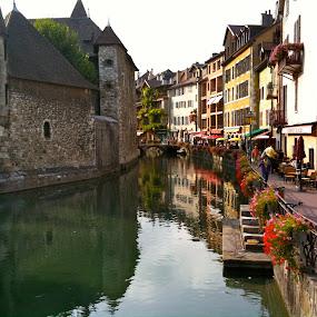 Annecy by Jason Kiefer - City,  Street & Park  Vistas ( france,  )