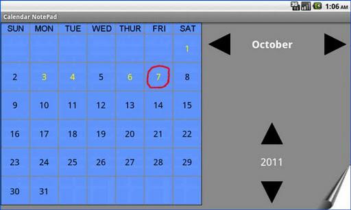 Calendar NotePad Gold