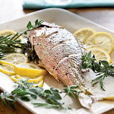 Stuffed Whole Roasted Yellowtail Snapper