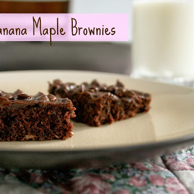 Banana Maple Brownies