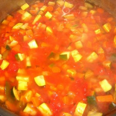Vegetable Soup with Sweet Potatoes and Rosemary
