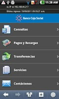 Screenshot of Banco Caja Social Mobile