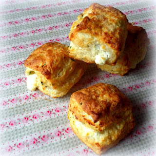 *Flaky Goat Cheese and Chive Biscuits*