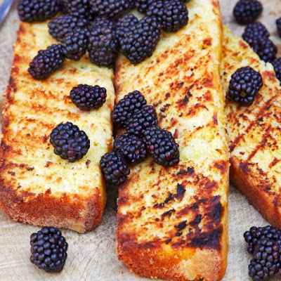Grilled Lemon-Saffron Pound Cake