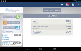 Screenshot of ACS Benefit Services My Money