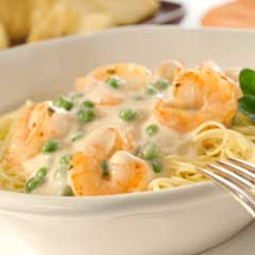 Creamy Garlic Shrimp With Angel Hair Pasta