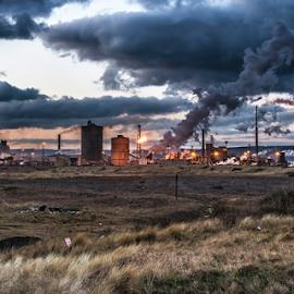 The Fires Of Industry by Joe Kirby - Landscapes Travel ( uk, redcar, steel industry, steel, ssi, steel works, england, tata steel, redcar & cleveland, river tees, steelworks, blast furnace, factory, corus, industry, steel plant )