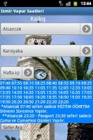 Screenshot of Izmir Vapur Saatleri
