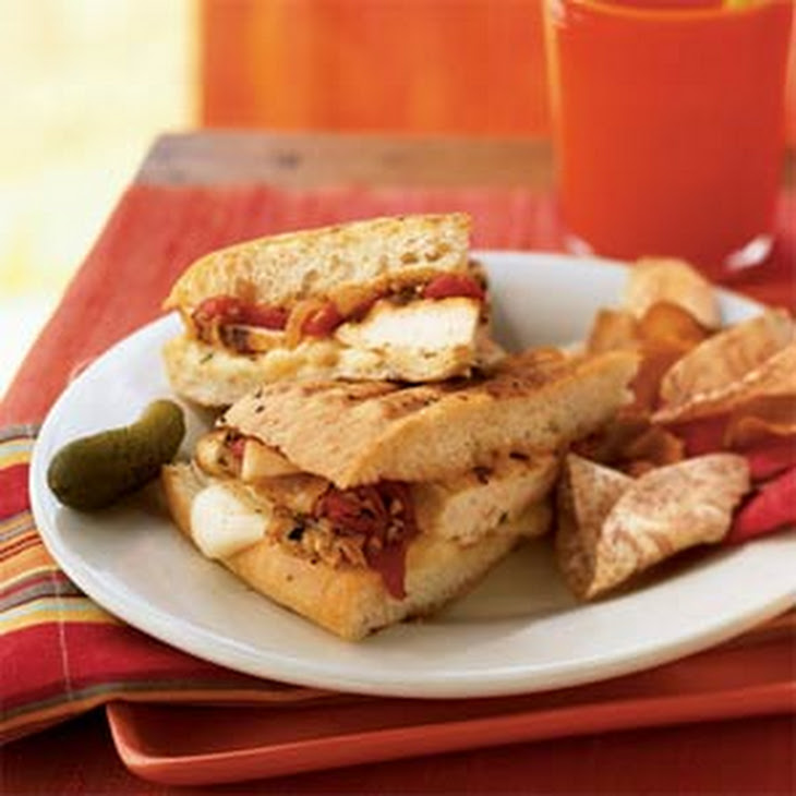 Grilled Chicken and Roasted Red Pepper Sandwiches with Fontina Cheese ...
