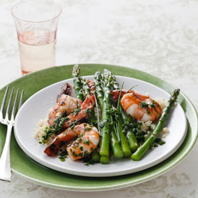 Citrusy Shrimp with Asparagus