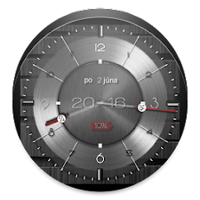 Metallic clock widget