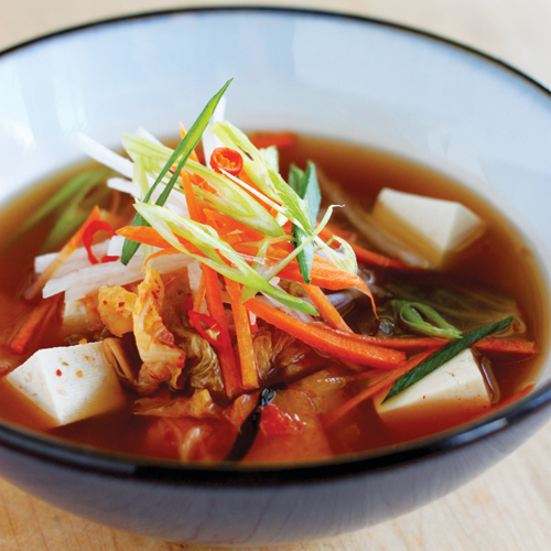 kimchi stew with chicken and tofu recipe yummly korean stew with tofu ...